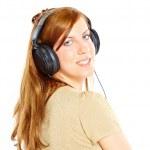 Girl with headphones — Stock Photo #9731560