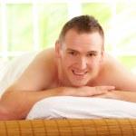 Man resting in spa salon — Stock Photo