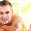 Man in spa with mask — Stock Photo #9733595