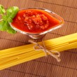 Spaghetti and tomato sauce — Stock Photo #9736081