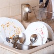 Dirty dishes - Foto Stock