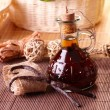 Vanilla extract and beans - Stockfoto
