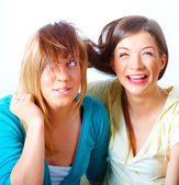 Two girls having fun — Stock Photo