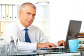 Mature businessman in office — Stock Photo