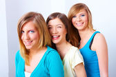 Three girls friendship — Stock Photo