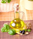 Bottle with oil — Stock Photo