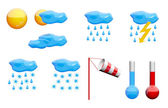 Weather icons set — Stock Photo