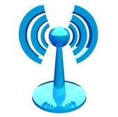 Wifi (wireless) blue modern icon — Stock Photo