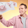 Flying emails — Stock Photo