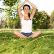 Stock Photo: Young woman doing yoga