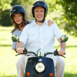 Stock Photo: Couple riding