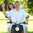 Couple riding — Stock Photo