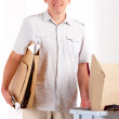 Recycling Man With Paper — Stock Photo