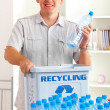 Recycling Man With Bottles — Stock Photo #9741468