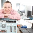 Computer service owner — Stock Photo