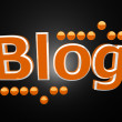 Blog with orange balls — Stock Photo