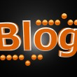 Blog with orange balls - Stock Photo