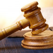 Stock Photo: Gavel and book