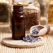 Stock Photo: Lavender essential oil