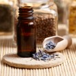 Lavender essential oil - Stock Photo