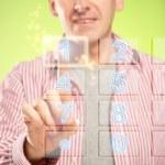 Man using numeric pad — Stock Photo