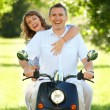 Couple riding — Stock Photo #9744631