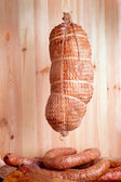 Cold smoked ham — Stock Photo