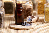Lavender essential oil — ストック写真