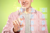 Man using numeric pad — Stock Photo