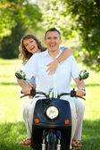 Couple riding — Stock Photo