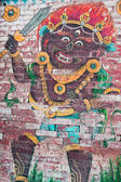 Animal, Nepal mural — Stock Photo