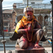 Stock Photo: Nepal statues, temples and decorative arts