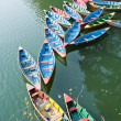 Phewa Lake in Pokhara, Nepal. - Stock Photo
