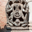 Nepal statues, temples and decorative arts — Stock Photo