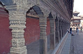 Colonnade in Bhadgaon,Nepal — Stock Photo