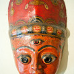 Masks, pottery,souvenirs, Nepal — Stock Photo #9838023