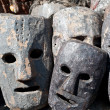 Masks, pottery,souvenirs, Nepal - Stock Photo