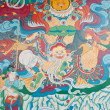 Mural,Nepal, the temple wall murals - Stock Photo