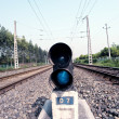 Railway signal light — Stock Photo