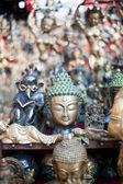 Masks, pottery,souvenirs, Nepal — Stock Photo