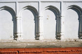 With round arches and white walls — Stock Photo