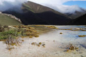 China, Sichuan Kangding, the pool elevation of 4,000 meters of natural calcification — Stock Photo
