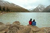 Ganzi Prefecture, Sichuan Province, the new road sea lake — Stock Photo