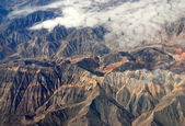 China Xinjiang Tianshan Mountains, aerial — Stock Photo