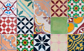 Ornamental portugese styled tiles — Stock Photo