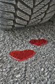 Heart and tire — Stock Photo