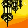 Illustration of stylish ramadan lantern — Stock Vector