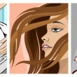 Illustration of ladies in beauty makeover icon — Stok Vektör #9780206