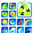 Royalty-Free Stock Vector Image: Nature icon collection