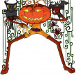 Royalty-Free Stock Vector Image: Halloween pumpkin in vector illustration